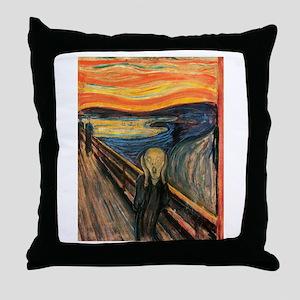The Scream Edvard Munch Throw Pillow