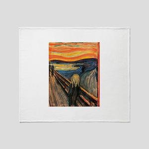 The Scream Edvard Munch Throw Blanket