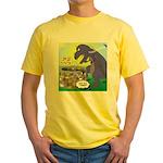 Pet T-Rex Yellow T-Shirt