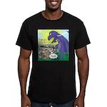 Pet T-Rex Men's Fitted T-Shirt (dark)
