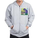 Pet T-Rex Zip Hoodie