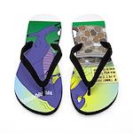 Pet T-Rex Flip Flops