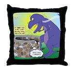 Pet T-Rex Throw Pillow