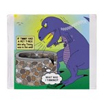 Pet T-Rex Throw Blanket