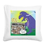 Pet T-Rex Square Canvas Pillow