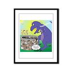 Pet T-Rex Framed Panel Print