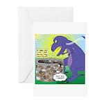 Pet T-Rex Greeting Cards (Pk of 10)