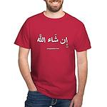 If God Wills - Insha'Allah Arabic Dark T-Shirt