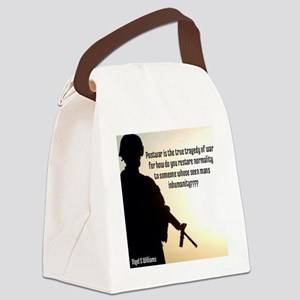 The Inhumanity Of War Canvas Lunch Bag