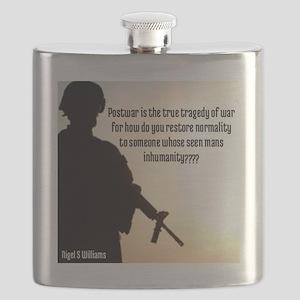 The Inhumanity Of War Flask