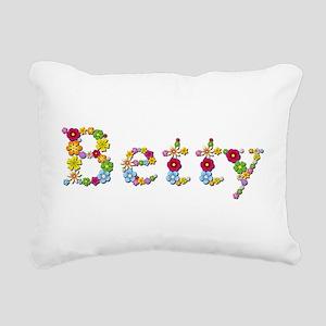 Betty Bright Flowers Rectangular Canvas Pillow