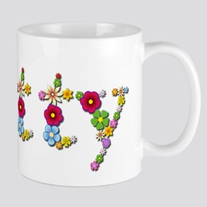 Betty Bright Flowers Mugs