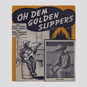 Golden Slippers Sheet Music Throw Blanket