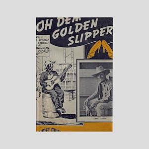 Golden Slippers Sheet Music Rectangle Magnet