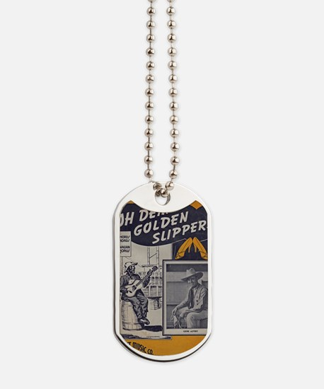 Golden Slippers Sheet Music Dog Tags