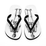 Skeletons front back Flip Flops