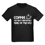 Coffee The Most Important Meal Kids Dark T-Shirt