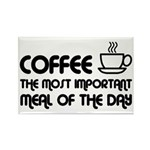 Coffee The Most Important Meal Rectangle Magnet (1