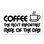 Coffee The Most Important Meal Sticker (Rectangle