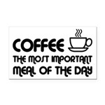 Coffee The Most Important Meal Rectangle Car Magne