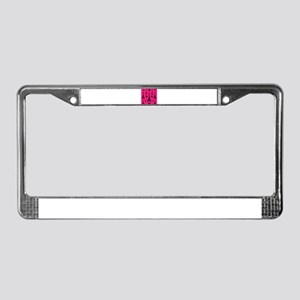 Trendy Pink and Black I LOVE PARIS License Plate F