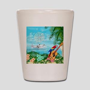 Tropical Travels Shot Glass
