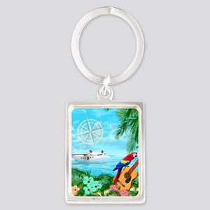 Tropical Travels Portrait Keychain
