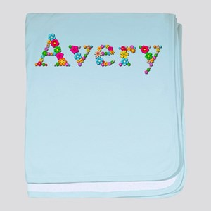 Avery Bright Flowers baby blanket