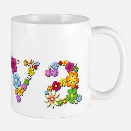 Ava Bright Flowers Mugs