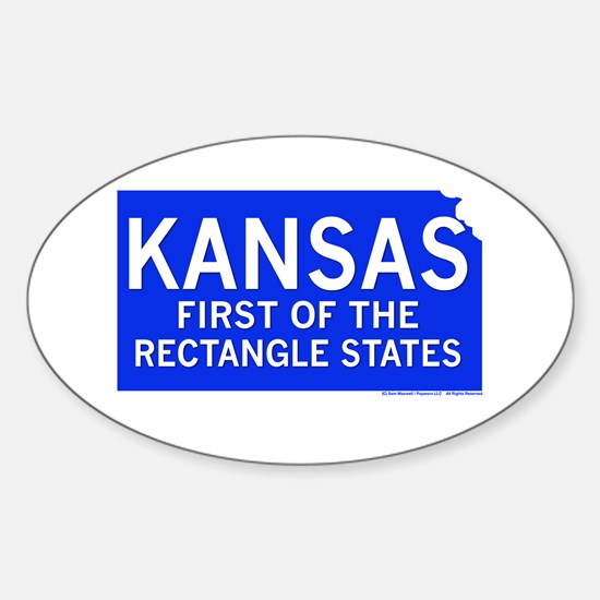 Kansas First Rectangle State Oval Decal