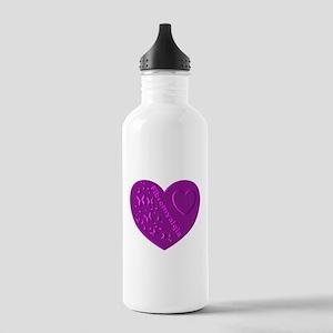 FIBROMYALGIA EMBOSSED HEART Water Bottle