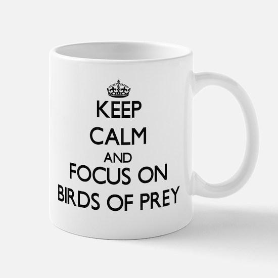 Keep calm and focus on Birds Of Prey Mugs