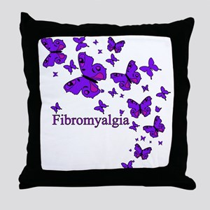 FIBROMYALGIA EYE BUTTERFLIES Throw Pillow