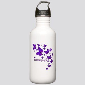 FIBROMYALGIA EYE BUTTERFLIES Water Bottle