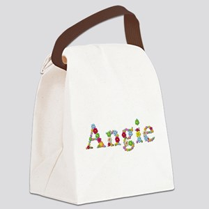 Angie Bright Flowers Canvas Lunch Bag