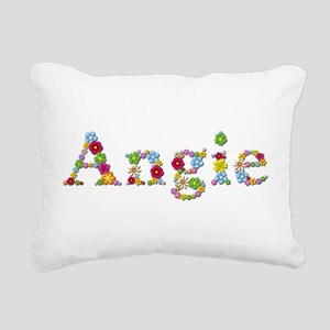 Angie Bright Flowers Rectangular Canvas Pillow