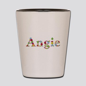 Angie Bright Flowers Shot Glass