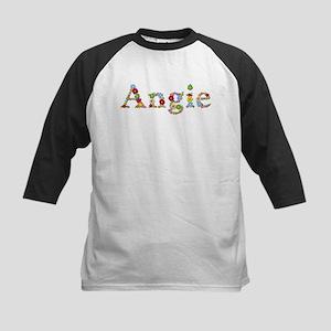 Angie Bright Flowers Baseball Jersey