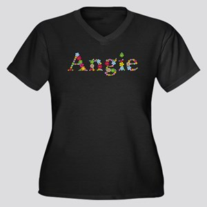 Angie Bright Flowers Plus Size T-Shirt