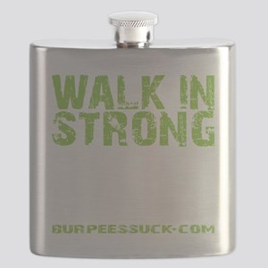 WALK IN STRONG CRAWL OUT STRONGER - LIME Flask