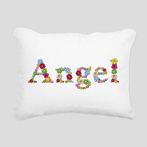 Angel Bright Flowers Rectangular Canvas Pillow