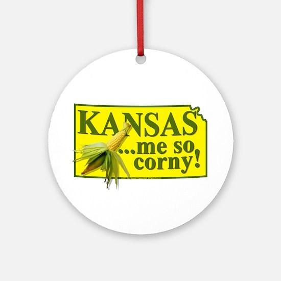 Kansas- Me So Corny! Ornament (Round)