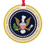 Marti's Logo Round Ornament