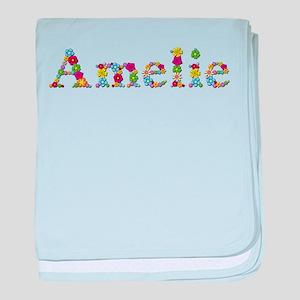 Amelie Bright Flowers baby blanket