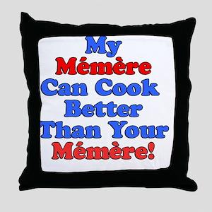 Memere Cook Better Throw Pillow