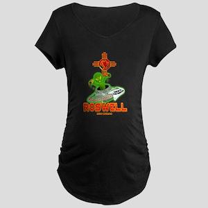 ROSWELL ALIEN LOVE Maternity Dark T-Shirt