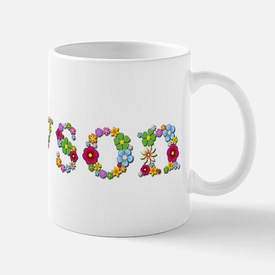 Allyson Bright Flowers Mugs