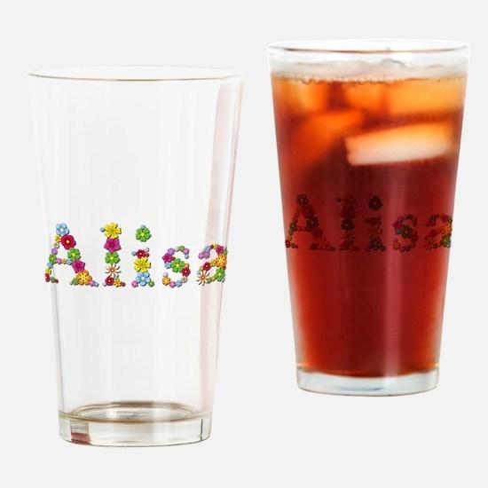 Alisa Bright Flowers Drinking Glass