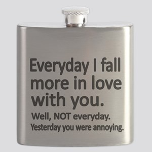 Everyday I fall more in love with you Flask
