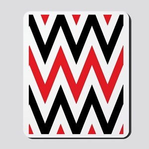 Black, white and Red chevrons Twin Duvet Mousepad